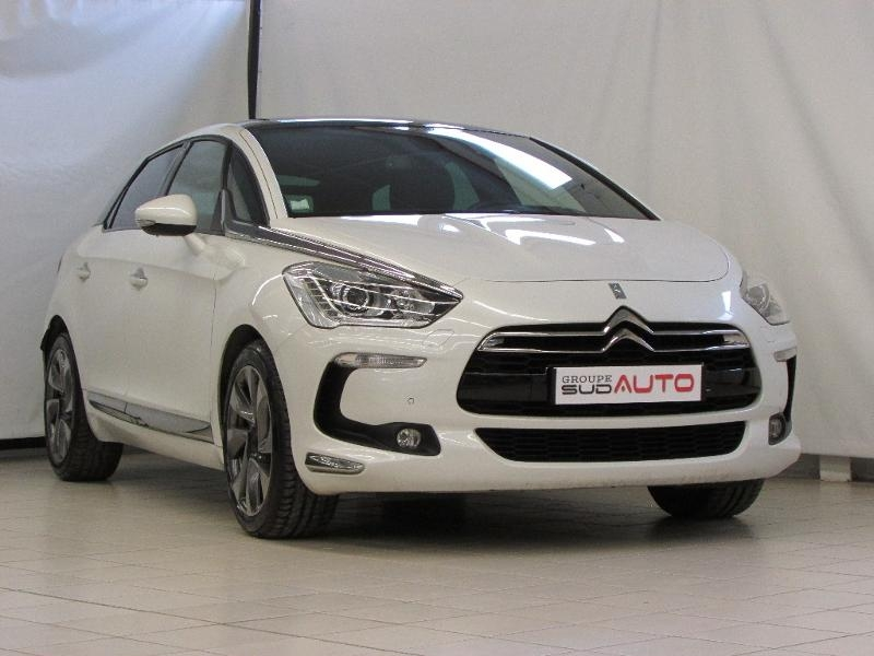 Citroen DS5 2.0 BlueHDi180 Sport Chic S&S EAT6 Diesel blanc nacree Occasion à vendre